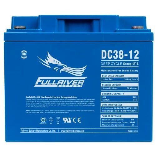 Batería Fullriver DC38-12 38Ah 265A 12V Dc FULLRIVER - 1