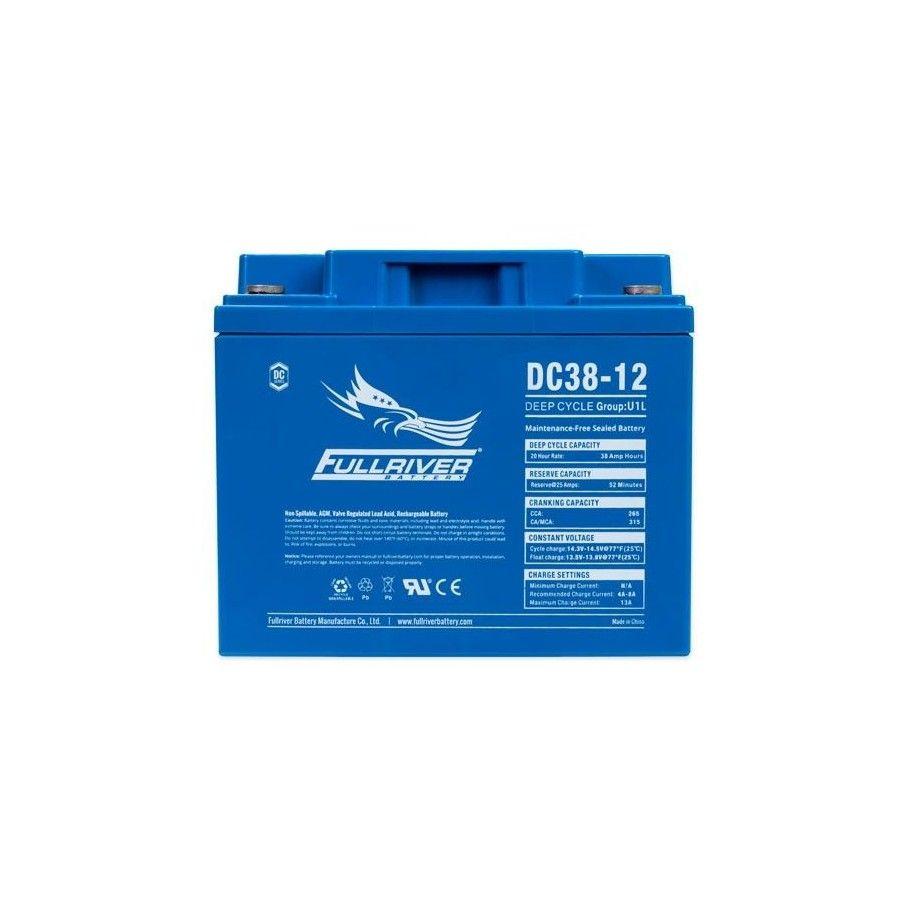 Battery Fullriver DC38-12 38Ah 265A 12V Dc FULLRIVER - 1