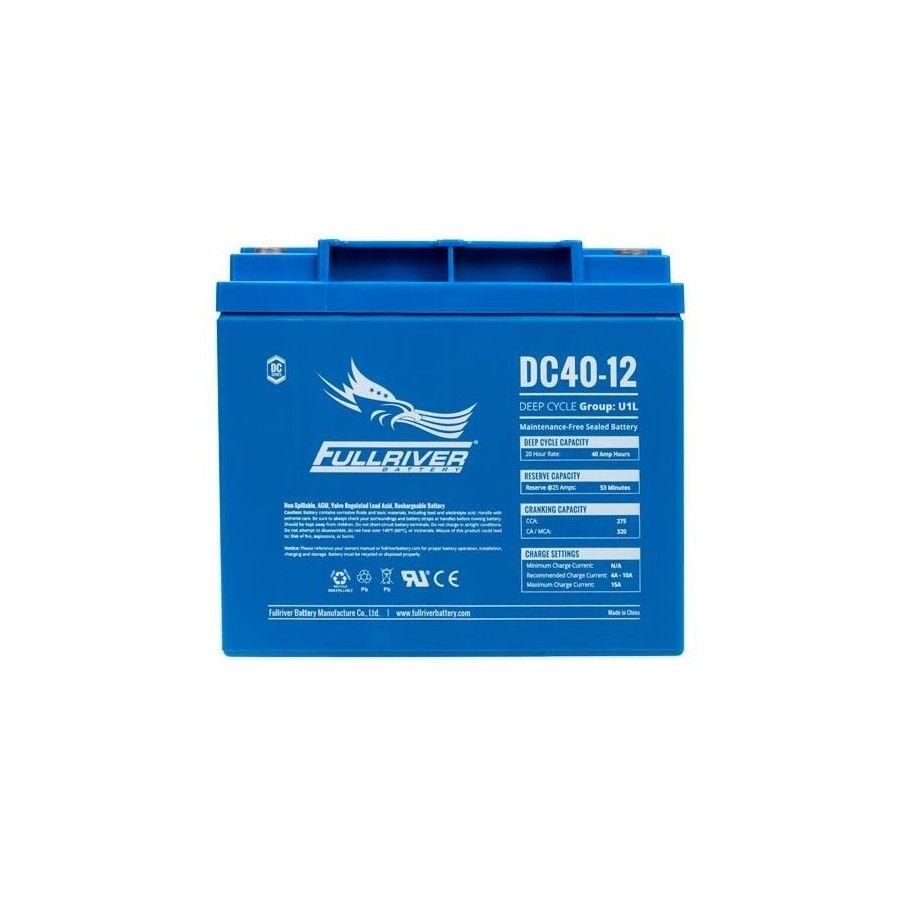 Batería Fullriver DC40-12 40Ah 275A 12V Dc FULLRIVER - 1