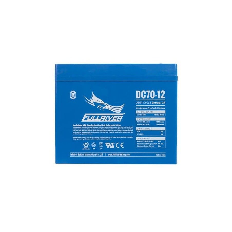 Batería Fullriver DC70-12 70Ah 450A 12V Dc FULLRIVER - 1