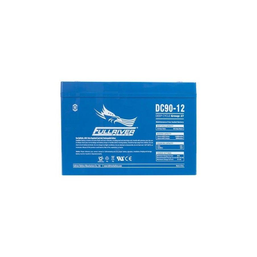 Battery Fullriver DC90-12 90Ah 530A 12V Dc FULLRIVER - 1