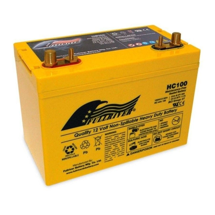 Batería Fullriver HC100 100Ah 965A 12V Hc FULLRIVER - 1