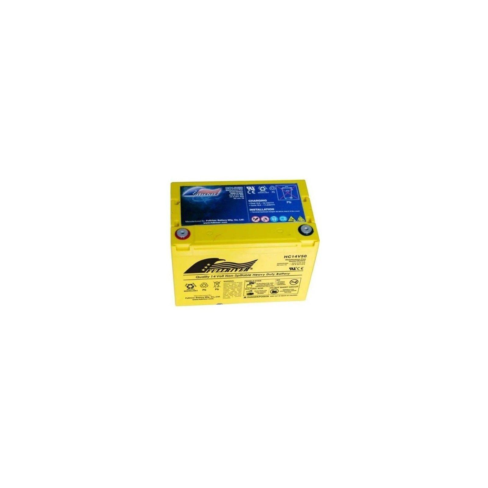 Battery Fullriver HC14V50 50Ah 570A 14V Hc FULLRIVER - 1