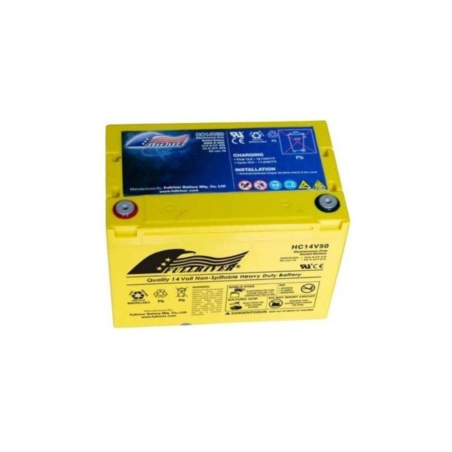BATERIA Fullriver FULLRIVER HC14V50 50Ah 570A 14V FULLRIVER - 1