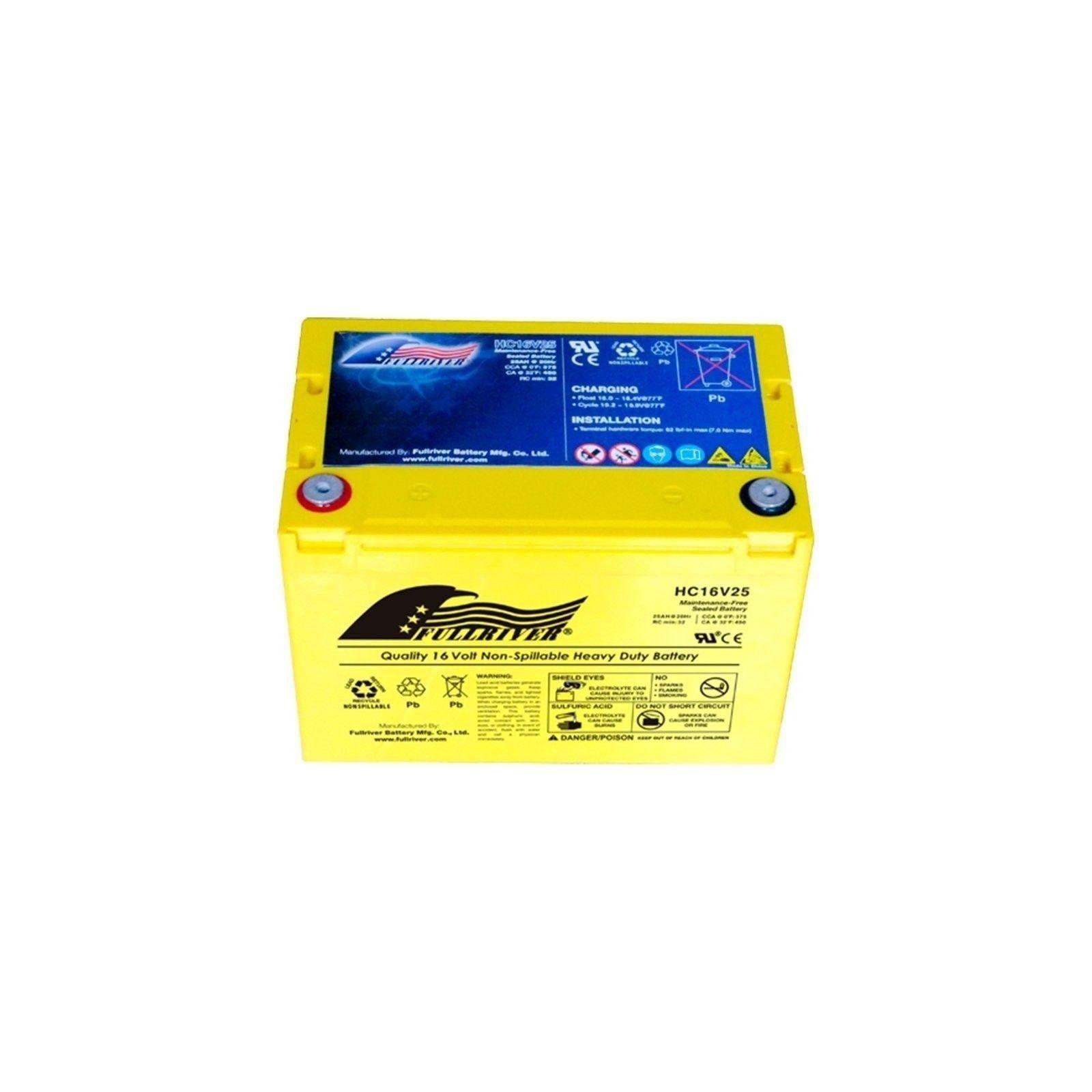 Battery Fullriver HC16V25 25Ah 375A 16V Hc FULLRIVER - 1