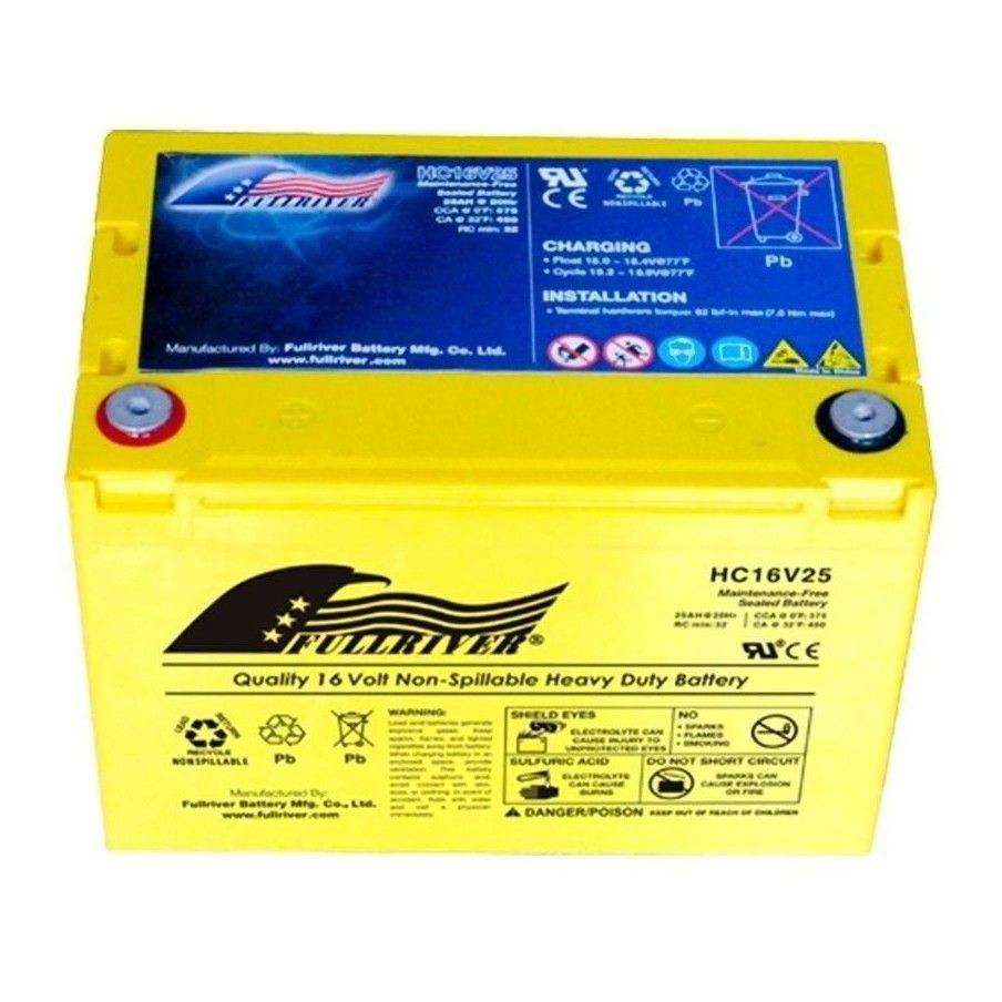 BATERIA Fullriver FULLRIVER HC16V25 25Ah 375A 16V FULLRIVER - 1