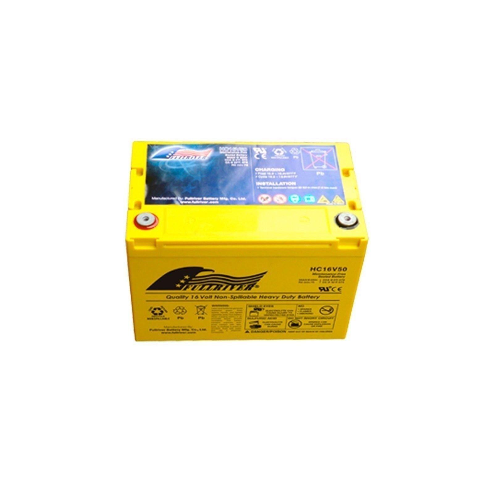 Battery Fullriver HC16V50 50Ah 570A 16V Hc FULLRIVER - 1