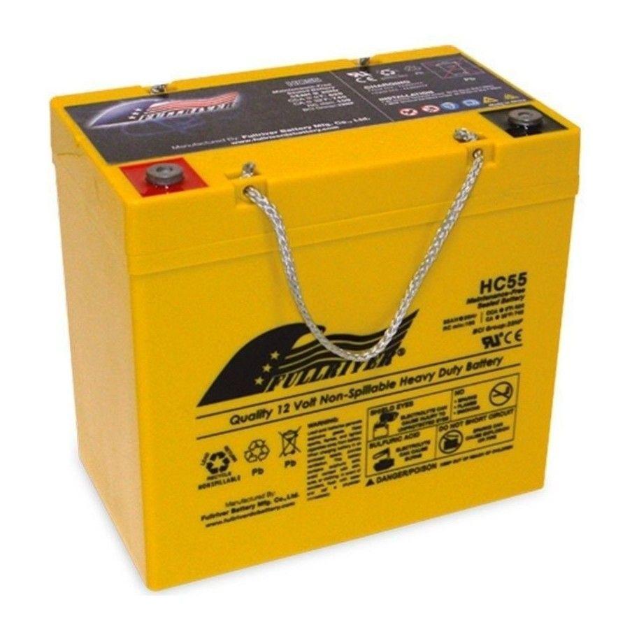 Battery Fullriver HC55 55Ah 620A 12V Hc FULLRIVER - 1