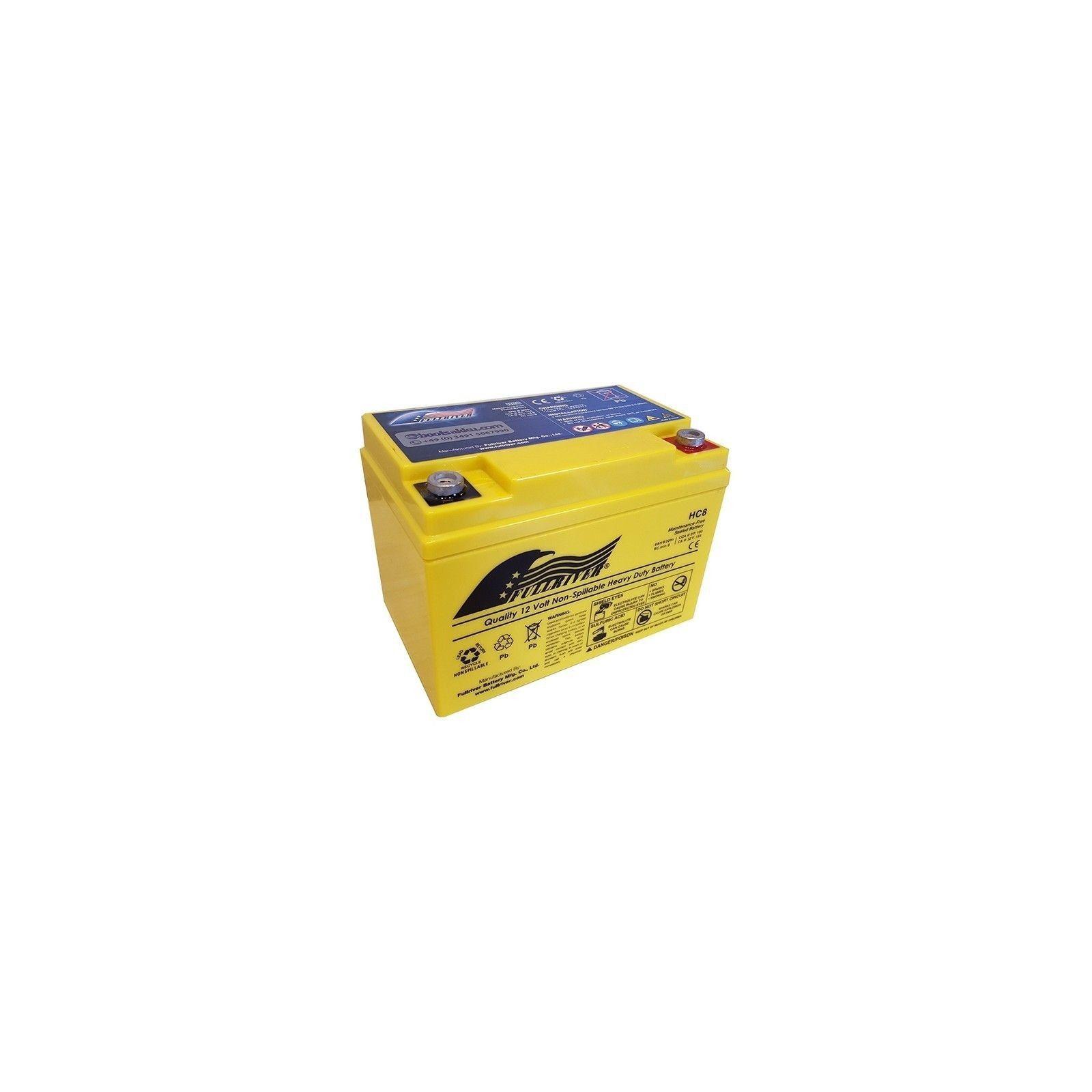 Battery Fullriver HC8 8Ah 100A 12V Hc FULLRIVER - 1