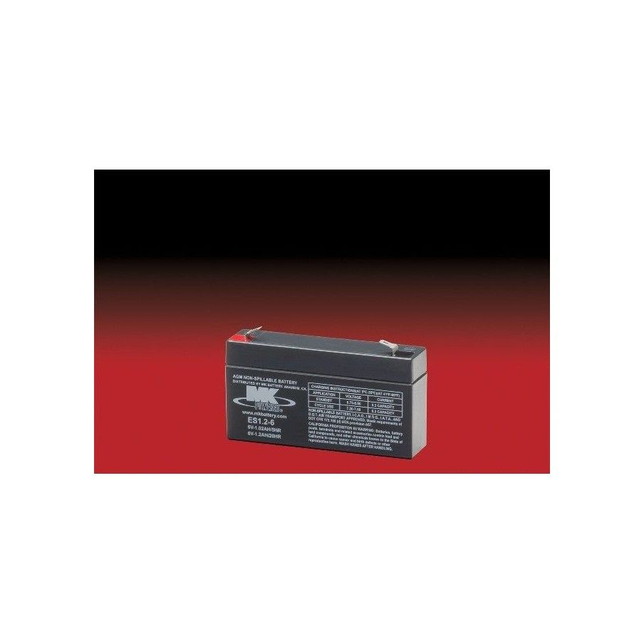 Batería MK ES1.2-6 1.2Ah 6V Agm MK - 1