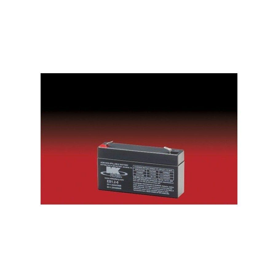 Battery MK ES1.2-6 1.2Ah 6V Agm MK - 1