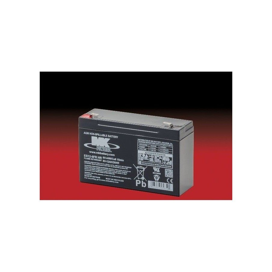 Batería MK ES12-6FR HR 12Ah 6V Agm MK - 1