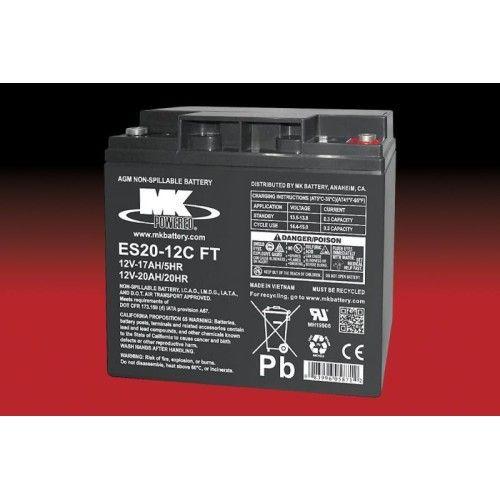 Battery MK ES20-12C FT 20Ah 12V Agm MK - 1