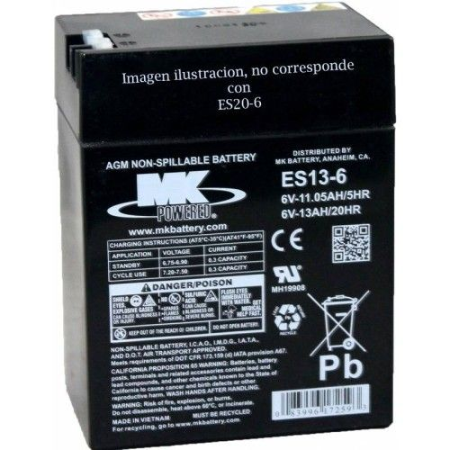 Batería MK ES20-6 20Ah 6V Agm MK - 1