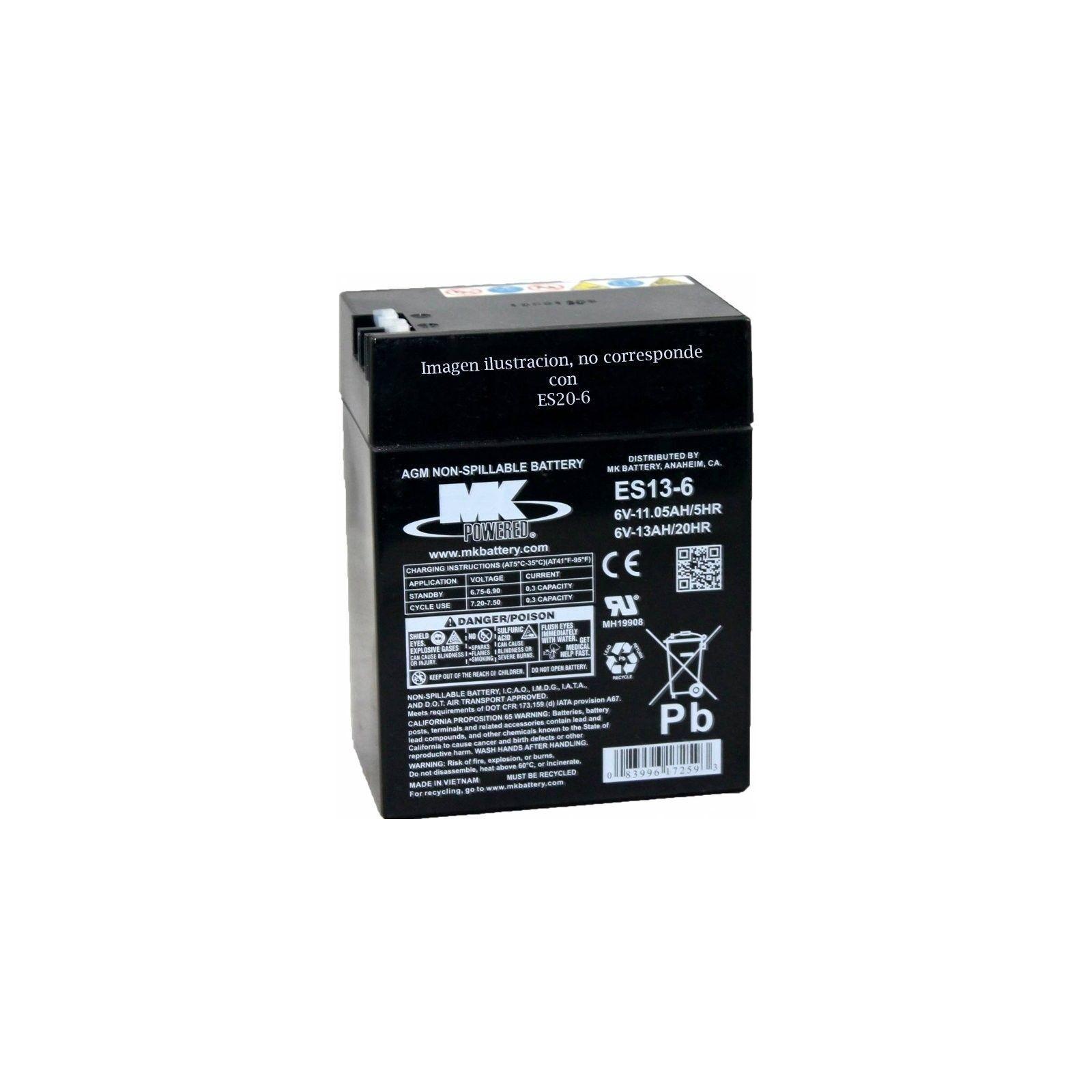 Battery MK ES20-6 20Ah 6V Agm MK - 1