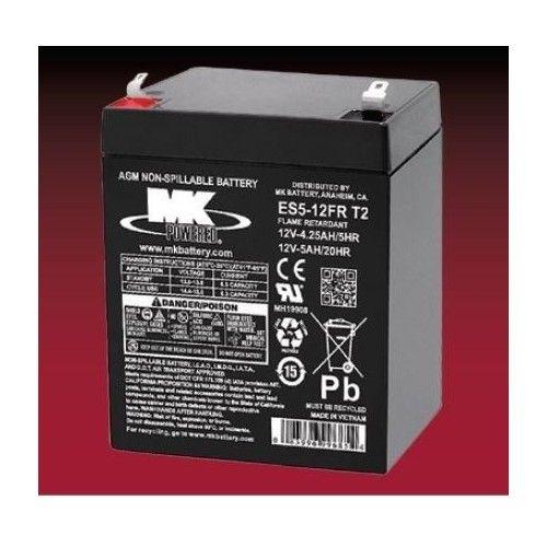 Batería MK ES5-12FR T2 5Ah 12V Agm MK - 1
