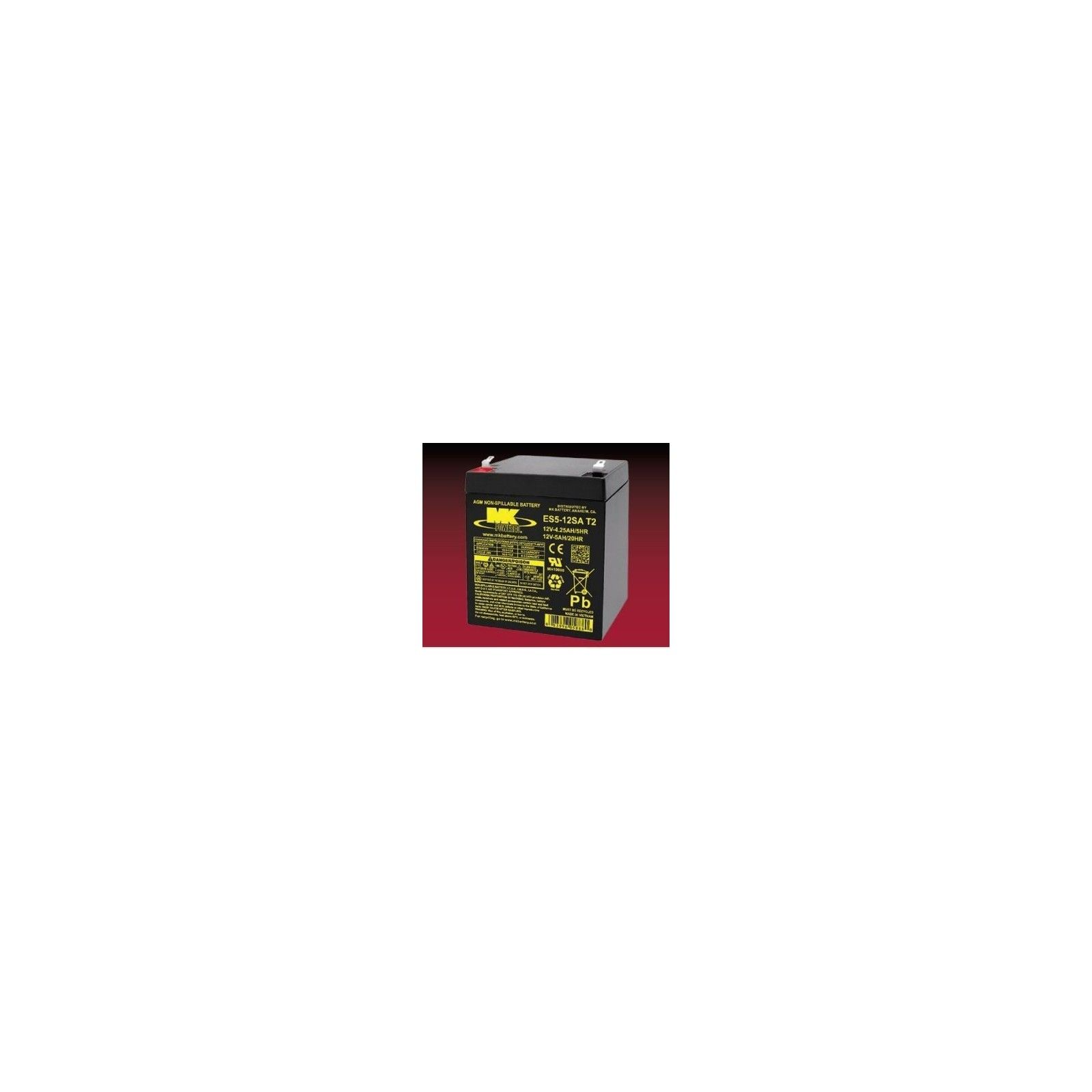 Batería MK ES5-12SA T2 5Ah 12V Agm MK - 1