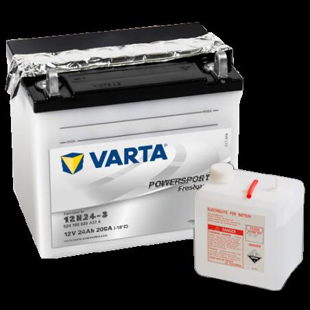 Batería Varta 12N24-3 524100020 24Ah 200A 12V Powersports Freshpack VARTA - 1