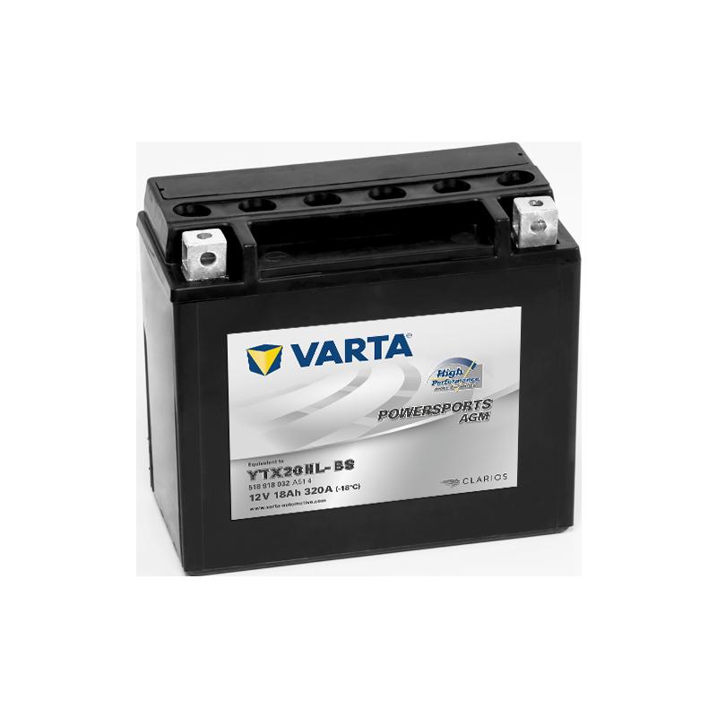 Batería Varta YTX20HL-BS 518918032 18Ah 320A 12V Powersports Agm High Performance VARTA - 1