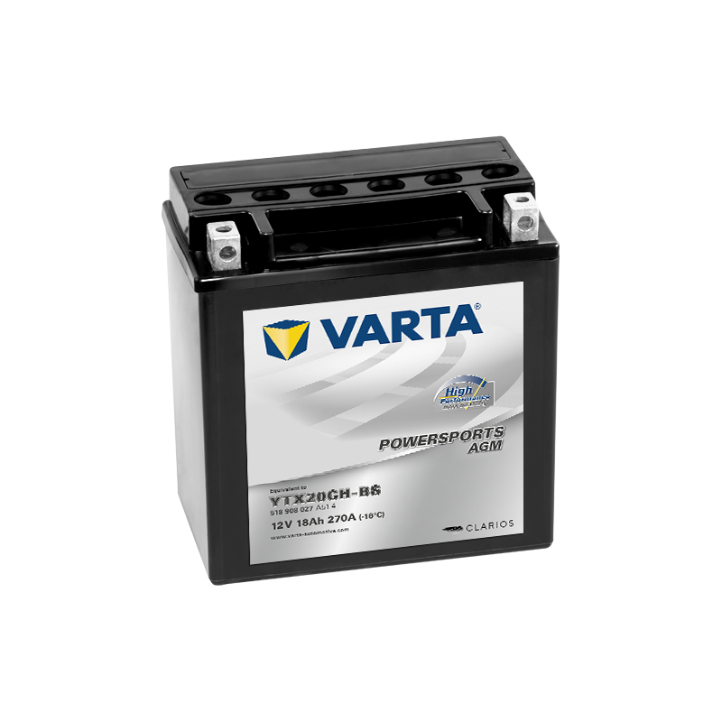 Batería Varta YTX20CH-BS 518908027 18Ah 270A 12V Powersports Agm High Performance VARTA - 1