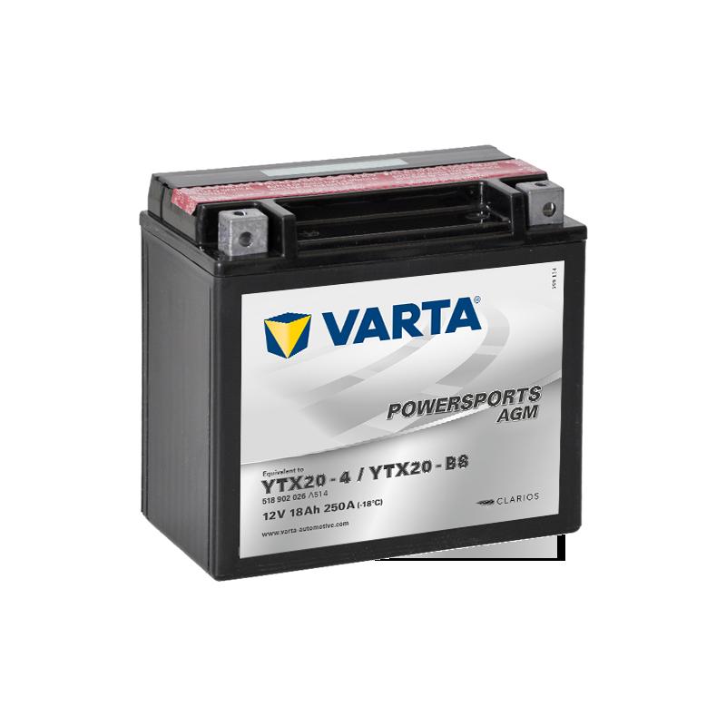 Batería Varta 518902026 18Ah 250A 12V Powersports Agm VARTA - 1