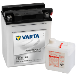 Batería Varta YB14L-B2 514013014 14Ah 190A 12V Powersports Freshpack VARTA - 1