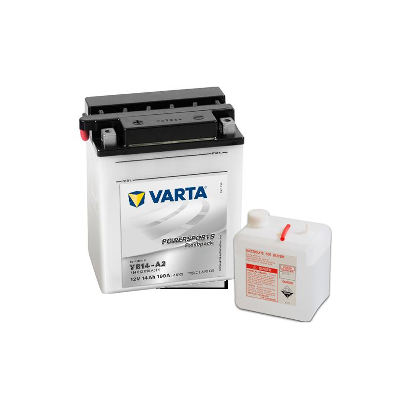 Batería Varta YB14-A2 514012014 14Ah 190A 12V Powersports Freshpack VARTA - 1