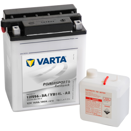 Batería Varta 514011014 14Ah 190A 12V Powersports Freshpack VARTA - 1