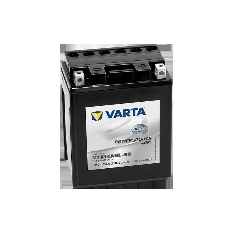 Batería Varta YTX14AHL-BS 512918021 12Ah 210A 12V Powersports Agm High Performance VARTA - 1
