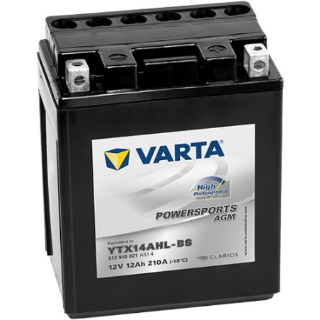 Batería Varta YTX14AHL-BS 512918021 12Ah 210A 12V Powersports Agm High Performance VARTA - 1
