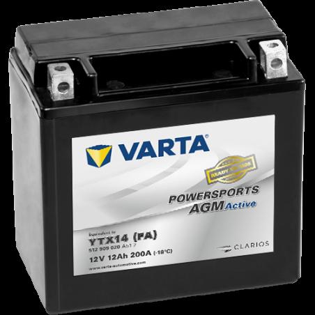 Batería Varta YTX14-4 512909020 12Ah 200A 12V Powersports Agm Active VARTA - 1