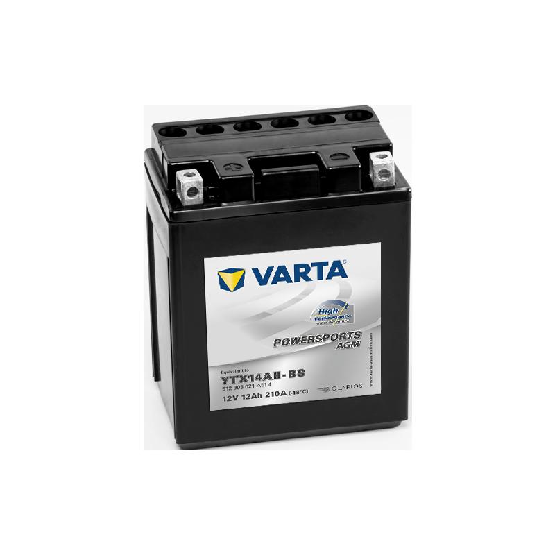 Batería Varta YTX14AH-BS 512908021 12Ah 210A 12V Powersports Agm High Performance VARTA - 1