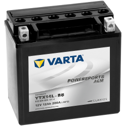 Batería Varta YTX14L-BS 512905020 12Ah 200A 12V Powersports Agm High Performance VARTA - 1