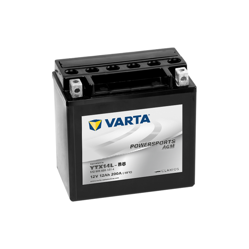 Batería Varta YTX14L-BS 512905020 12Ah 200A 12V Powersports Agm High Performance VARTA - 1