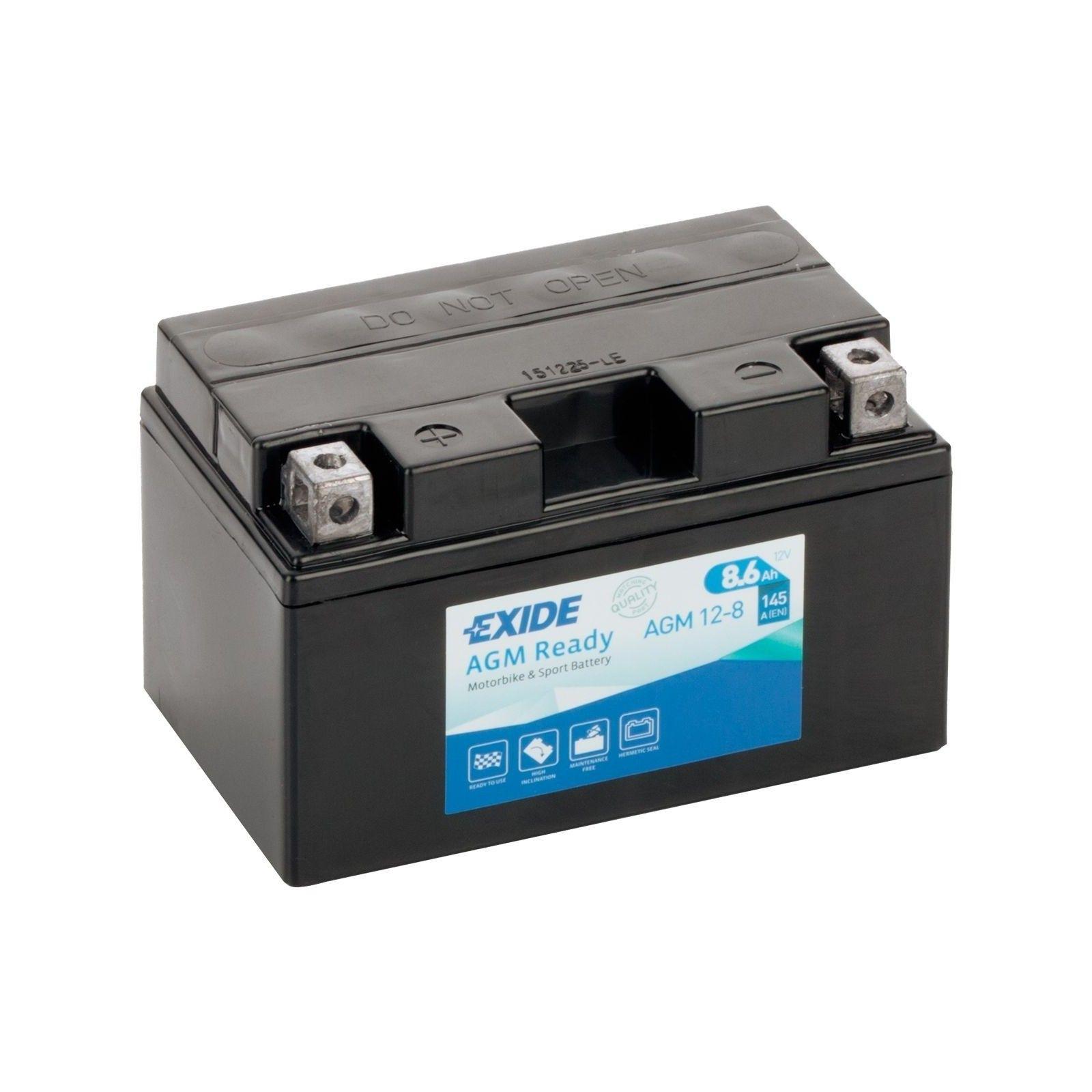Batería Exide AGM12-8 8,6Ah 145A 12V Bike 12V Agm Ready EXIDE - 1