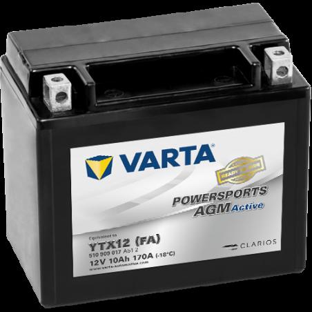 Batería Varta YTX12-4 510909017 10Ah 170A 12V Powersports Agm Active VARTA - 1