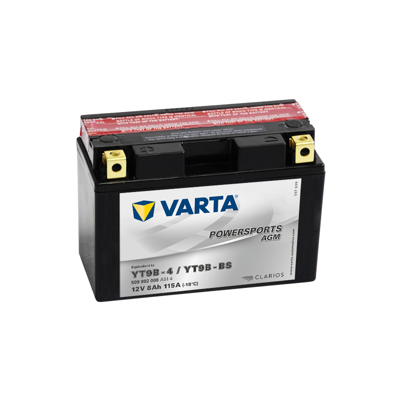 Batería Varta YT9B-4,YT9B-BS 509902008 8Ah 115A 12V Powersports Agm VARTA - 1