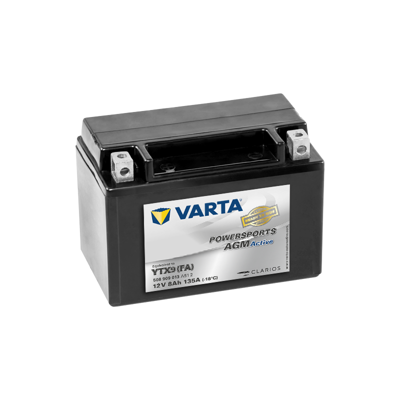 Batería Varta YTX9(FA) 508909013 8Ah 135A 12V Powersports Agm Active VARTA - 1