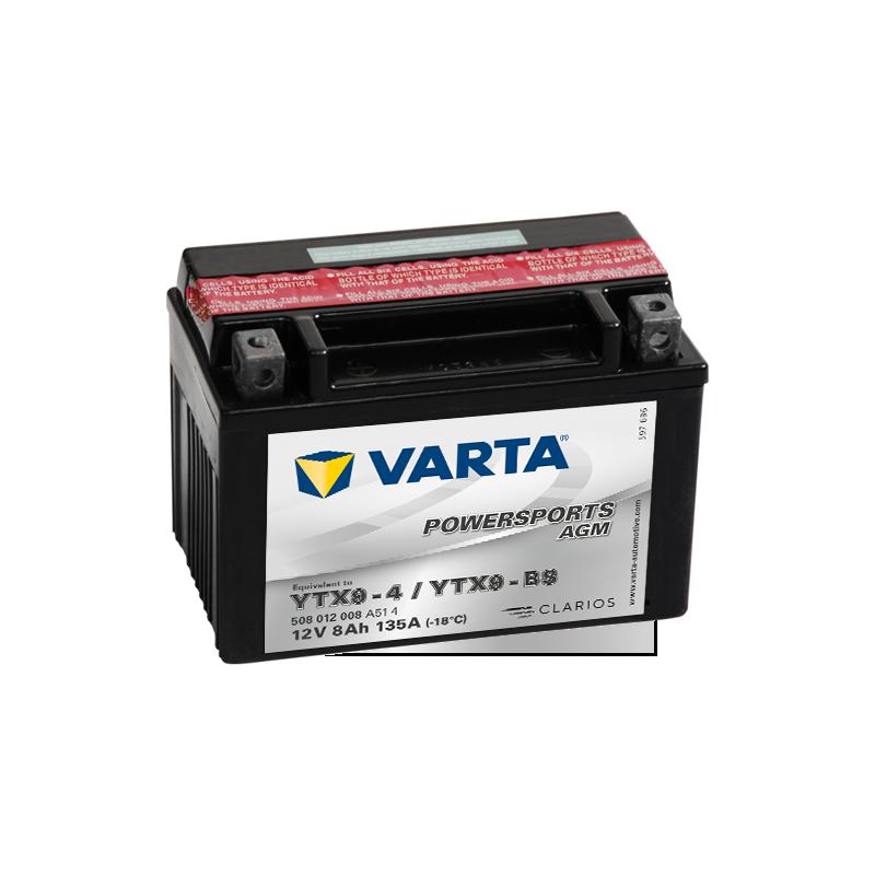 Batería Varta YTX9-4,YTX9-BS 508012008 8Ah 135A 12V Powersports Agm VARTA - 1