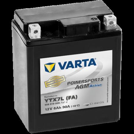 Batería Varta YTX7L 506919009 6Ah 90A 12V Powersports Agm Active VARTA - 1