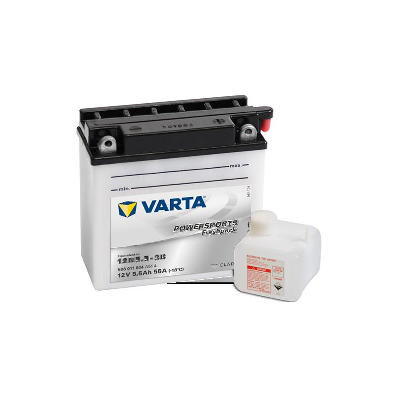 Batería Varta 12N5.5-3B 506011004 5,5Ah 55A 12V Powersports Freshpack VARTA - 1