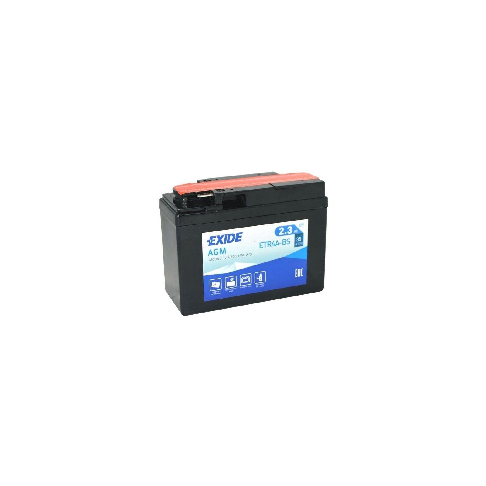 Batería Exide ETR4A-BS 2,3Ah 35A 12V Bike 12V Agm EXIDE - 1