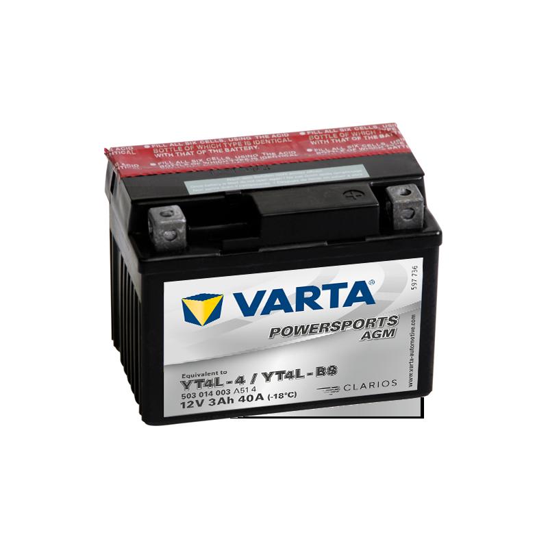 BATERIA VARTA POWERSPORTS 12N5.5A-3B 12V 5,5AH 58A  - 1