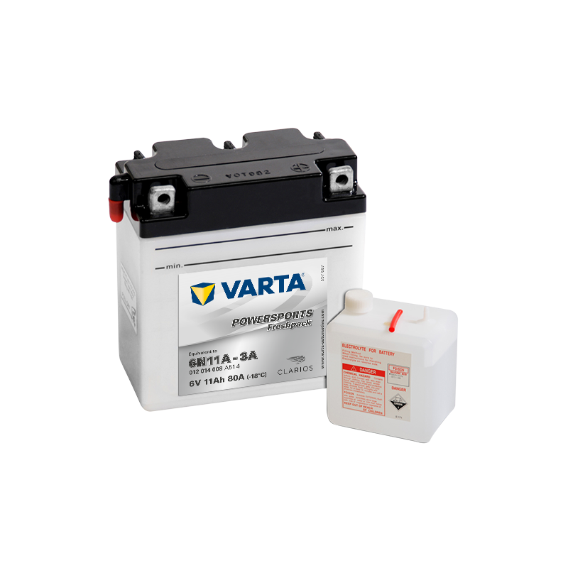 BATTERY VARTA POWERSPORTS 12N7-4A 12V 7AH 74A  - 1