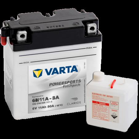 Batería Varta 6N11A-3A 012014008 11Ah 80A 6V Powersports Freshpack VARTA - 1