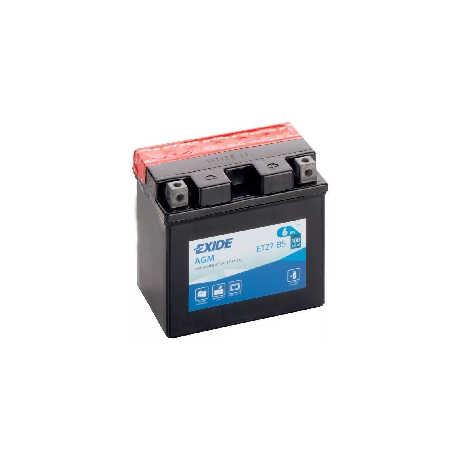 Batería Exide ETZ7-BS Bike 12V Agm EXIDE - 1