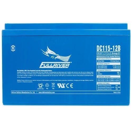 Batería Fullriver DC115-12B 115Ah 605A 12V Dc FULLRIVER - 1