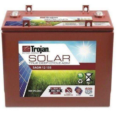 Batería Trojan SAGM 12 135 135Ah 12V Solar Agm  -  1700 Ciclos 50% Dod TROJAN - 1
