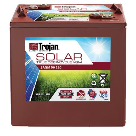Batería Trojan SAGM 06 220 220Ah 6V Solar Agm  -  1700 Ciclos 50% Dod TROJAN - 1