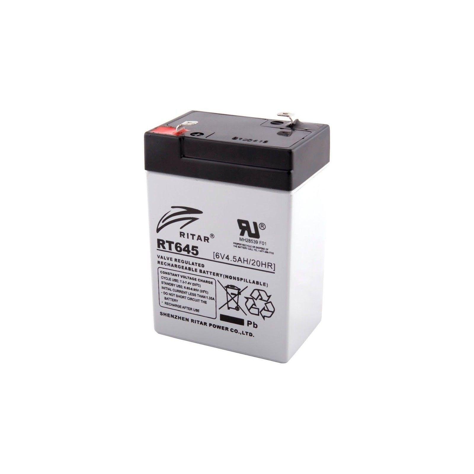 Batería Ritar RT645 4,5Ah 6V Rt RITAR - 1